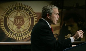 george w bush american legion 300x179 Where is the confidence?