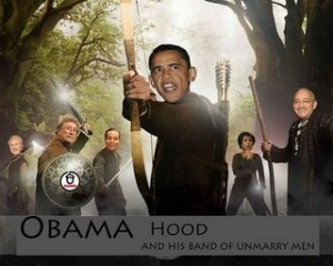 obama hood and his merry men thankw 300x240 Robin Hood gets a middle man
