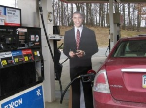 obama pumping gas thankw 300x223 The honeymoon is over