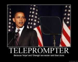 teleprompter thankw 300x240 Obama has created life