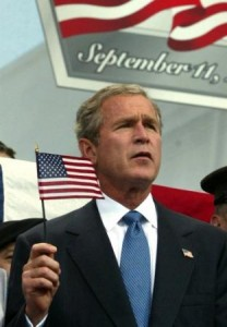 bush flag sept 11th thankw 208x300 One mans stand, alone